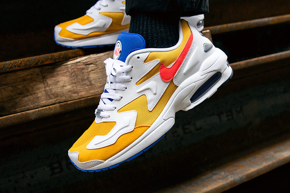 9fe66b60c1 Nike Air Max2 Light 'University Gold/Flash Crimson' | Now available ...