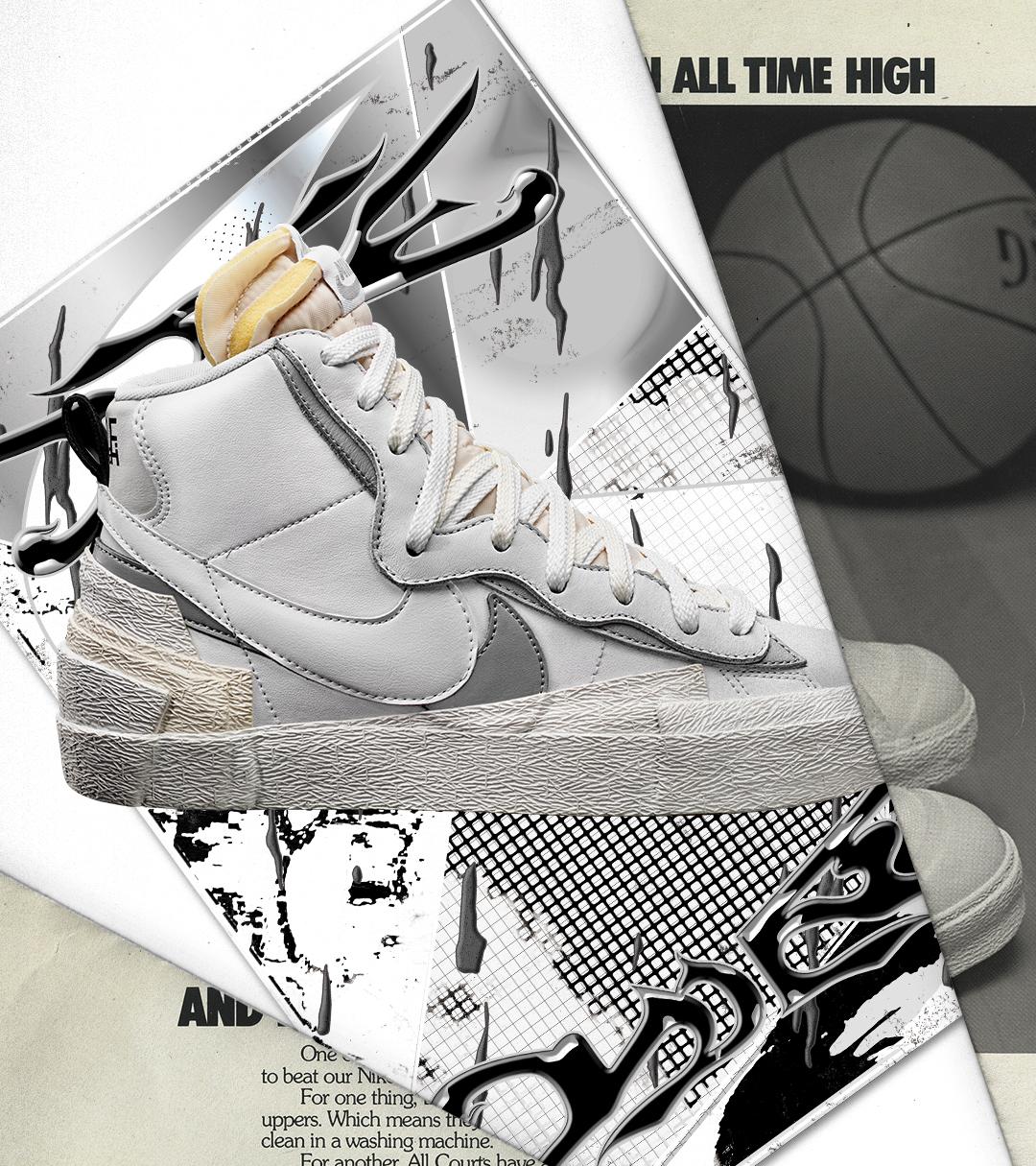 pedestal Agente práctica  sacai x Nike Blazer Mid White/Wolf Grey | RAFFLE - Footpatrol Blog